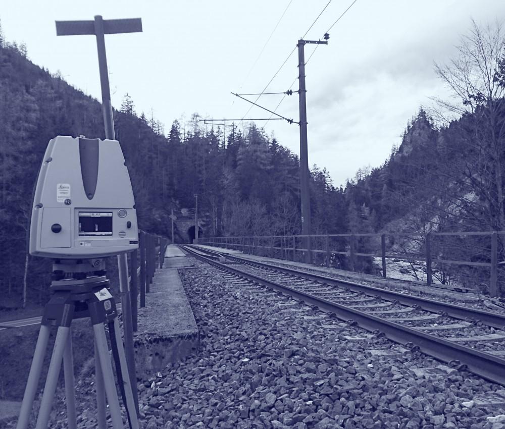 Foto Scanner Eisenbahnstrecke