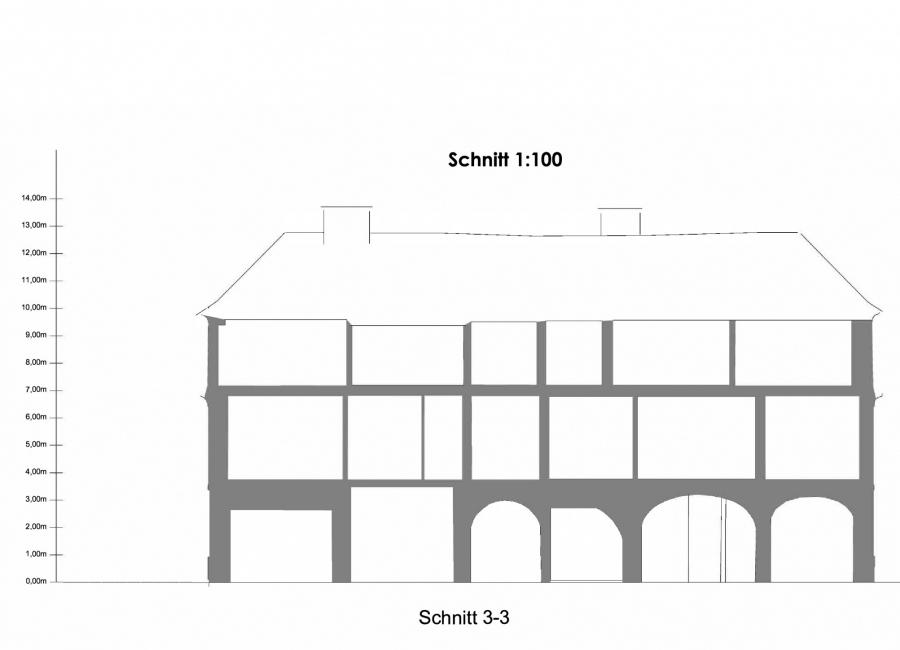 Darstellung Schnitt Haus
