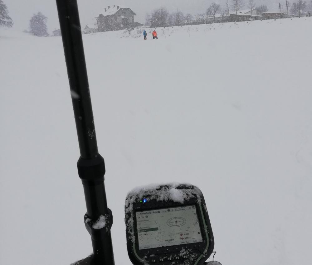 Foto von Vermessung im Schnee